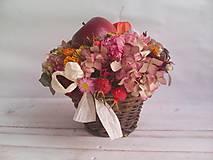 """Dekorácie - Prírodná dekorácia """"... jesenný košík s jabĺčkom ..."""" - 11049253_"""
