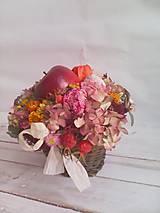 """Dekorácie - Prírodná dekorácia """"... jesenný košík s jabĺčkom ..."""" - 11049254_"""