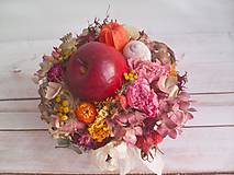 """Dekorácie - Prírodná dekorácia """"... jesenný košík s jabĺčkom ..."""" - 11049255_"""