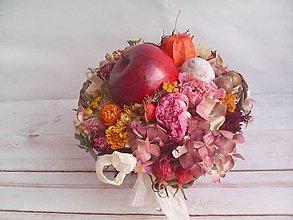 """Dekorácie - Prírodná dekorácia """"... jesenný košík s jabĺčkom ..."""" - 11049256_"""