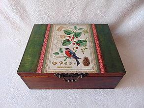 Krabičky - Drevená krabička Stránka z atlasu - 11048288_