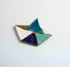 Odznaky/Brošne - Tana šperky - keramika/zlato - 11047073_