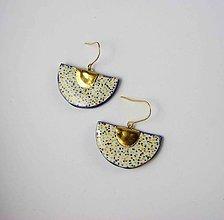 Náušnice - Tana šperky - keramika/zlato - 11048113_