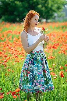 Sukne - IVA - skladaná zavinovacia sukňa - RôZNE VZORY - 11047505_