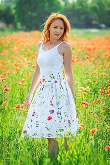 Sukne - EVA - nariasená zavinovacia sukňa - RôZNE VZORY - 11047520_