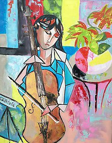 Obrazy - Playing cello - 11047826_