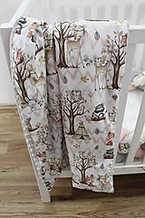 Textil - Minky deka V lese, 5 farieb na výber, 100x70cm - 11048849_
