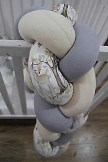 Textil - Zapletaný mantinel Vzorovaný V lese, dĺžka 50-500cm - 11048794_