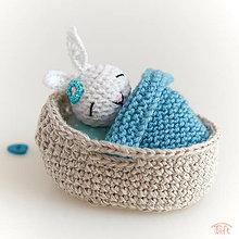 Hračky - Mini-zajačik v košíčku - 11049001_