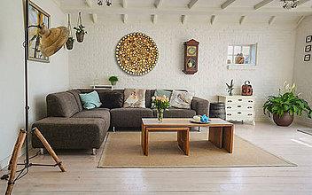 Dekorácie - Závesný drevený obraz Kruh - 11049071_