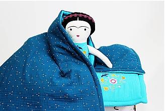 Textil - Deka mušelín / tyrkys - 11047875_