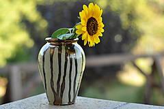 Dekorácie - Váza zlatá slnečnica - 11047000_