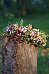 Ozdoby do vlasov - Čelenka - Ružové súkvetie - 11049208_