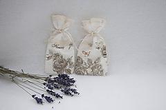 Úžitkový textil - Mini vrecúška fleurs levanduľové - 11047816_
