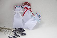 Úžitkový textil - Vrecúška na levanduľu folk - 11047847_