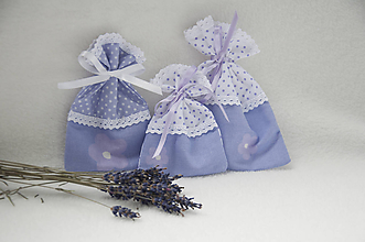 Úžitkový textil - Vrecúška levanduľové - 11047796_
