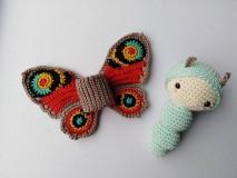 Hračky - Motýľ Babôčka - 11047083_