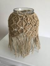Dekorácie - Makramé obal na vázu jutový - 11047614_