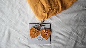 Náušnice - Macramé Náušnice - Horčicová žltá - 11048643_