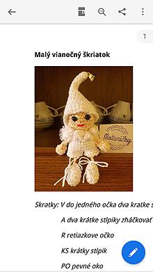 Dekorácie - Návod malý vianočný škriatok - 11048704_