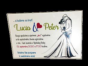Nezaradené - Sklenené svadobné oznámenie - 11047314_