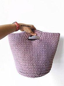 Veľké tašky - Ručne háčkovaná taška šnúrová kabelka Stop igelitkám! - 11047997_