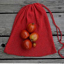Úžitkový textil - Eko vrecko...červené - 11049488_
