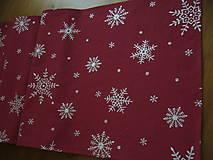 Úžitkový textil - Obrus vločky 190x55 - 11048442_