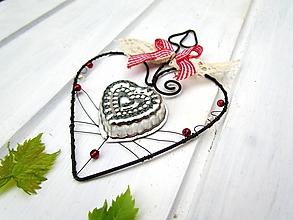 Dekorácie - srdce s formičkou - 11046643_