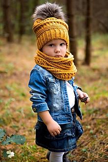 Detské súpravy - Súprava čiapočka a nákrčnik - 11049281_