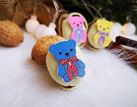 Dekorácie - Vianočné orechy  s medvedíkmi - 11048191_