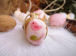 Dekorácie - Vianočné orechy ružové, sada 10 ks - 11048553_