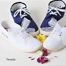Obuv - Svadobné tenisky s iniciály - 11050839_