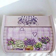 Nádoby - Chlebník - Lavender (bez nápisu lavender) - 11053723_