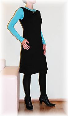 Šaty - Šatovka fleece (více barev) - 11049984_
