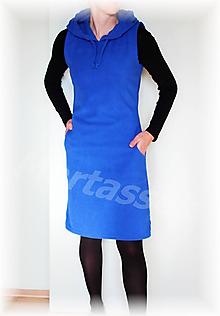 Šaty - Šatovka s kapucí fleece (více barev) - 11053245_