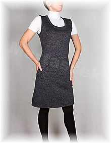 Šaty - Šatovka s kapsami-hřejivá(nové barvy) - 11053286_