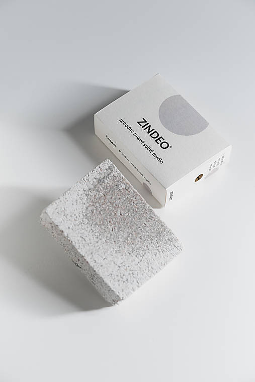ZINDEO® soľné TMAVÉ mydlo