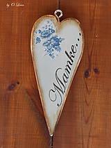 Tabuľky - Vintage štíhle srdce (Mamke) - 11049871_