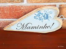 Tabuľky - Vintage štíhle srdce (Mamke) - 11049872_
