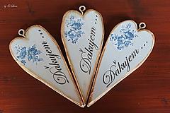 Tabuľky - Vintage štíhle srdce - 11049882_