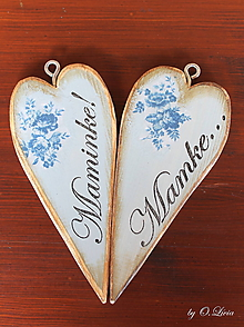 Tabuľky - Vintage štíhle srdce (Mamke) - 11049869_