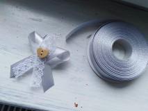 Pierka - svadobné pierka čipkove co farbe sivej, striebornej - 11050970_