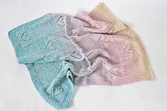 Textil - Dúhová detská deka - 11053689_