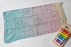 Textil - Dúhová detská deka - 11053690_