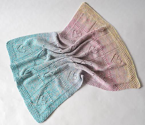 Dúhová detská deka