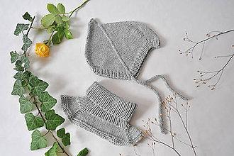 Detské čiapky - Škriatkovská čiapočka z merina - 11053610_