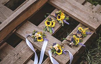 Náramky - Kvetinový náramok slnečnice - 11049665_