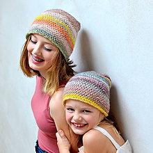 Čiapky - dámska čiapka RIASENÁ pieskový melír - 11052175_