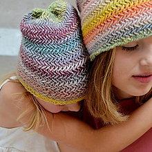 Detské čiapky - detská čiapka RIASENÁ pieskový melír - 11052190_